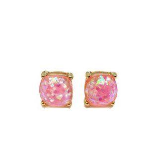 3/$20 New Pink & Gold Confetti Stud Earrings